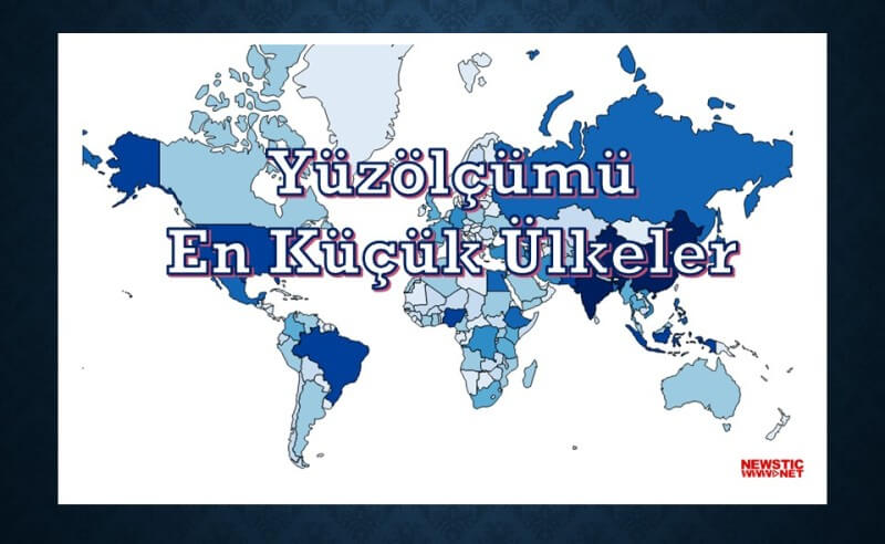Yuzolcumu En kucuk ulkeler smallest countries by area